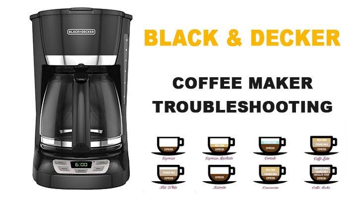 Black & Decker coffee maker troubleshooting