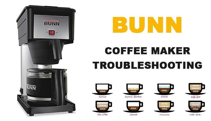 Bunn coffee maker troubleshooting