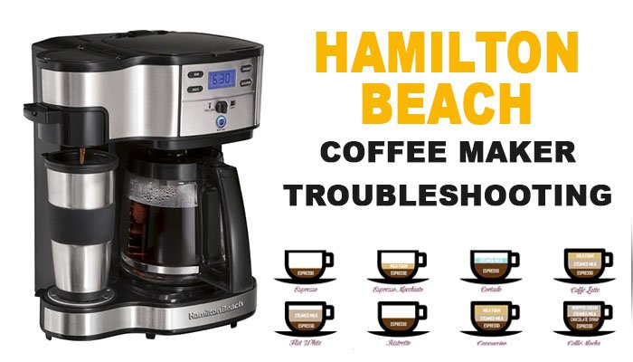 Hamilton Beach coffee maker troubleshooting