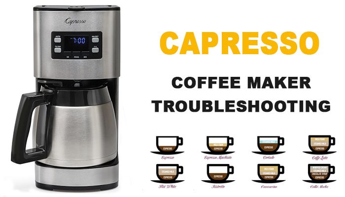 Capresso coffee maker troubleshooting