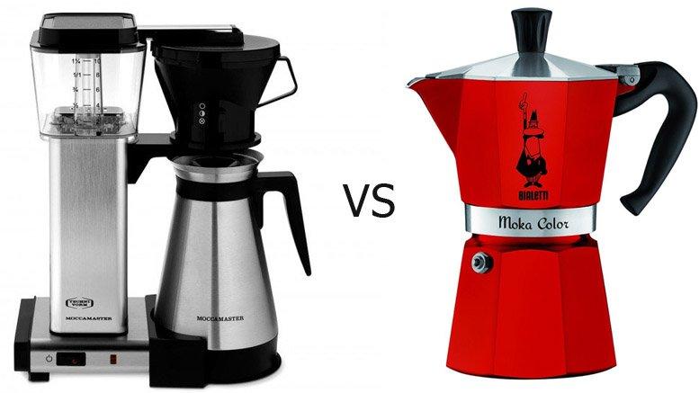 Drip coffee maker vs. percolator