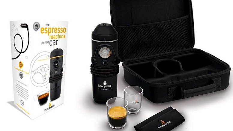 Handpresso auto. Portable coffee maker