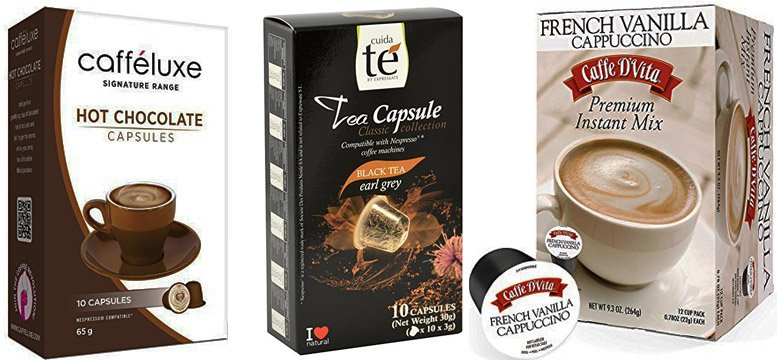cappuccino, tea, cocoa