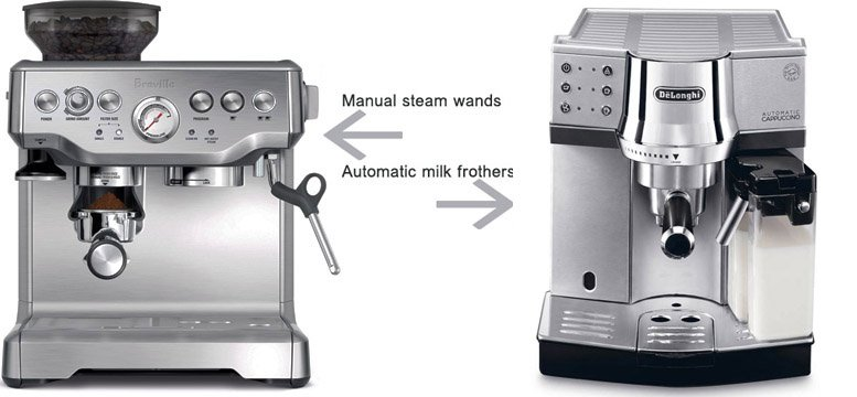 manual or automatic milk frother