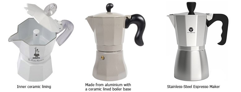stainless steel and ceramics stovetop percolator