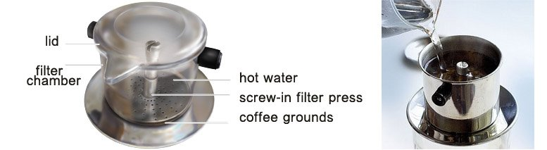 how to use vietnamese coffee maker
