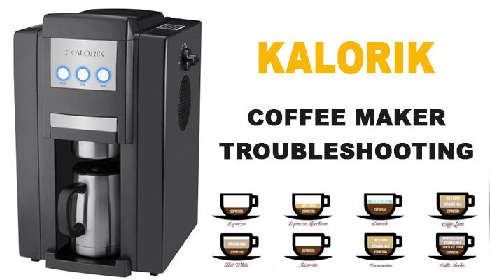 Kalorik coffee maker troubleshooting