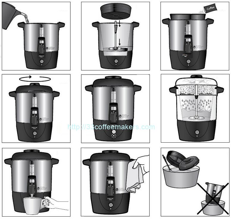How to make coffee in large urn