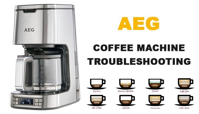 AEG coffee machine troubleshooting