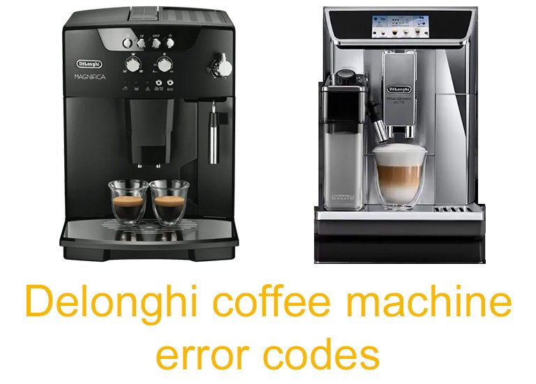 Delonghi coffee machine error codes
