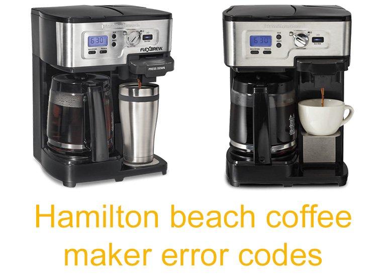 Hamilton beach coffee maker error codes