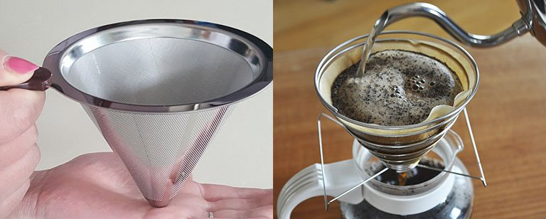 Strainer coffee